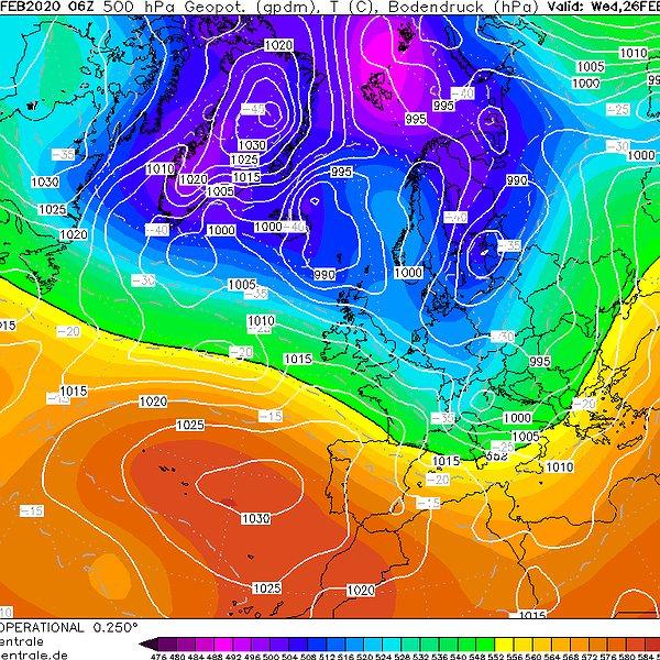 Clima più dinamico tra fine Febbraio e inizio Marzo...